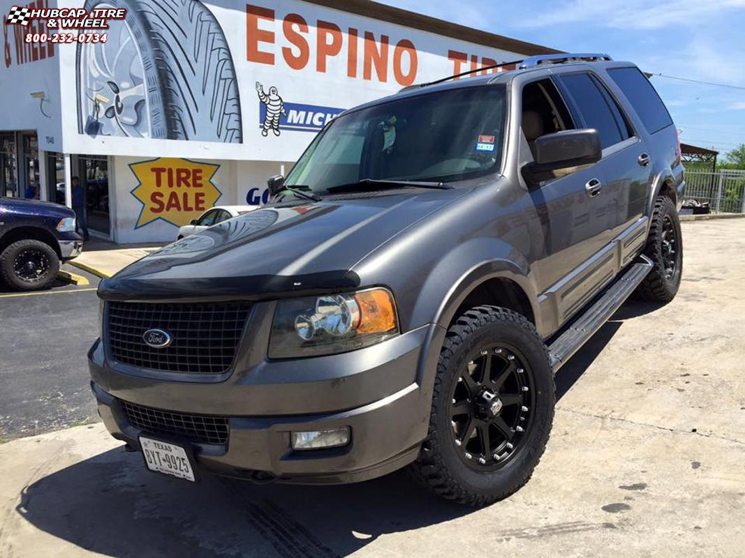 Ford expedition xd series xd798 addict matte black wheels and rims