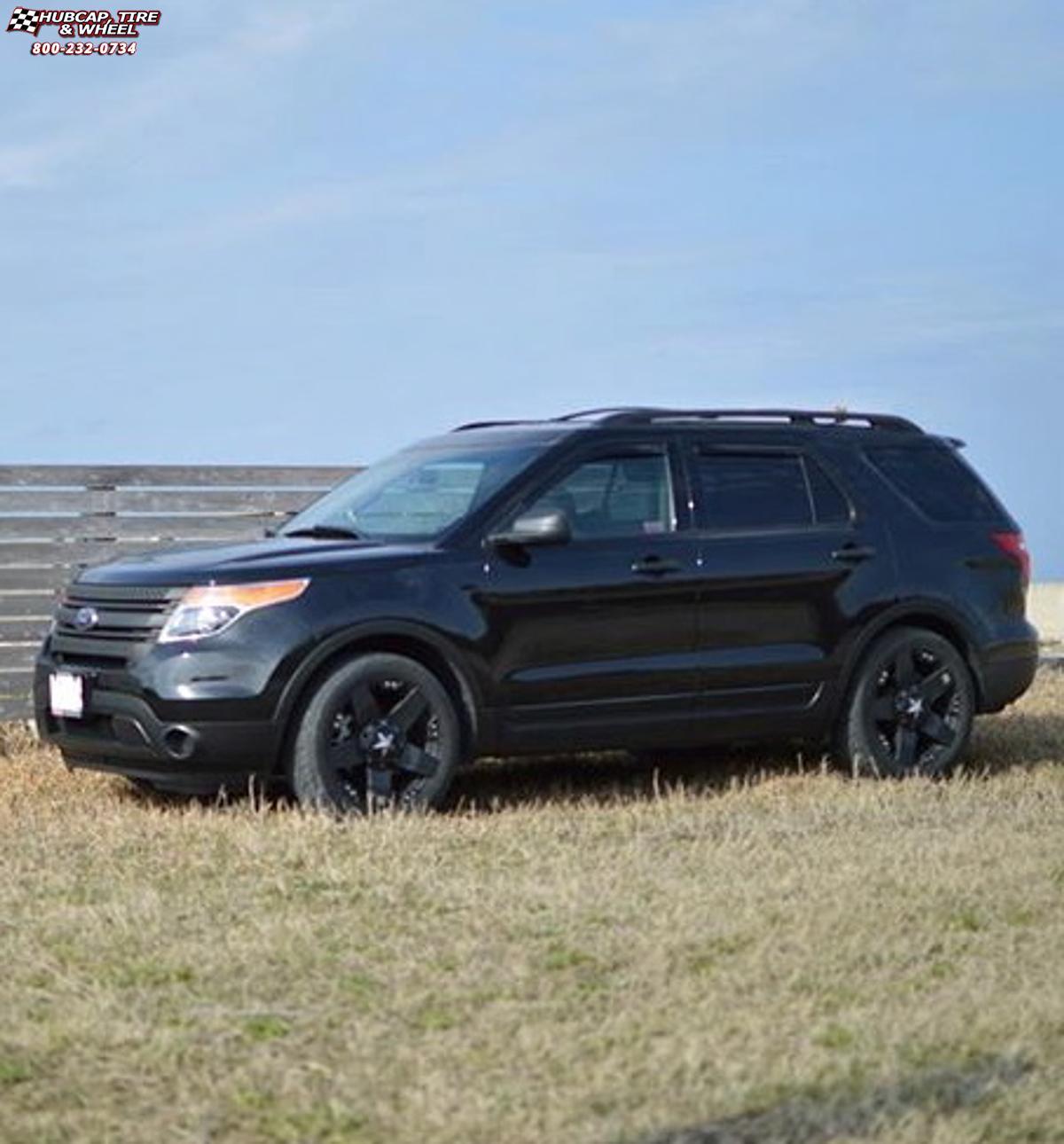 Ford Explorer Black Rims >> Ford Explorer Xd Series Xd775 Rockstar Wheels Matte Black