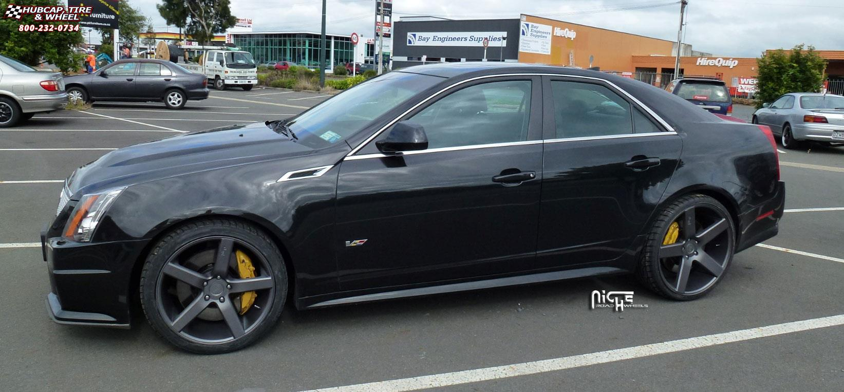 2013 Honda Accord Sport Tire Size >> Cadillac CTS Niche Milan - M134 Wheels Black & Machined with Dark Tint
