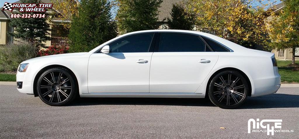 Audi A8 Niche Laguna Wheels Matte Black Ddt Face Matte