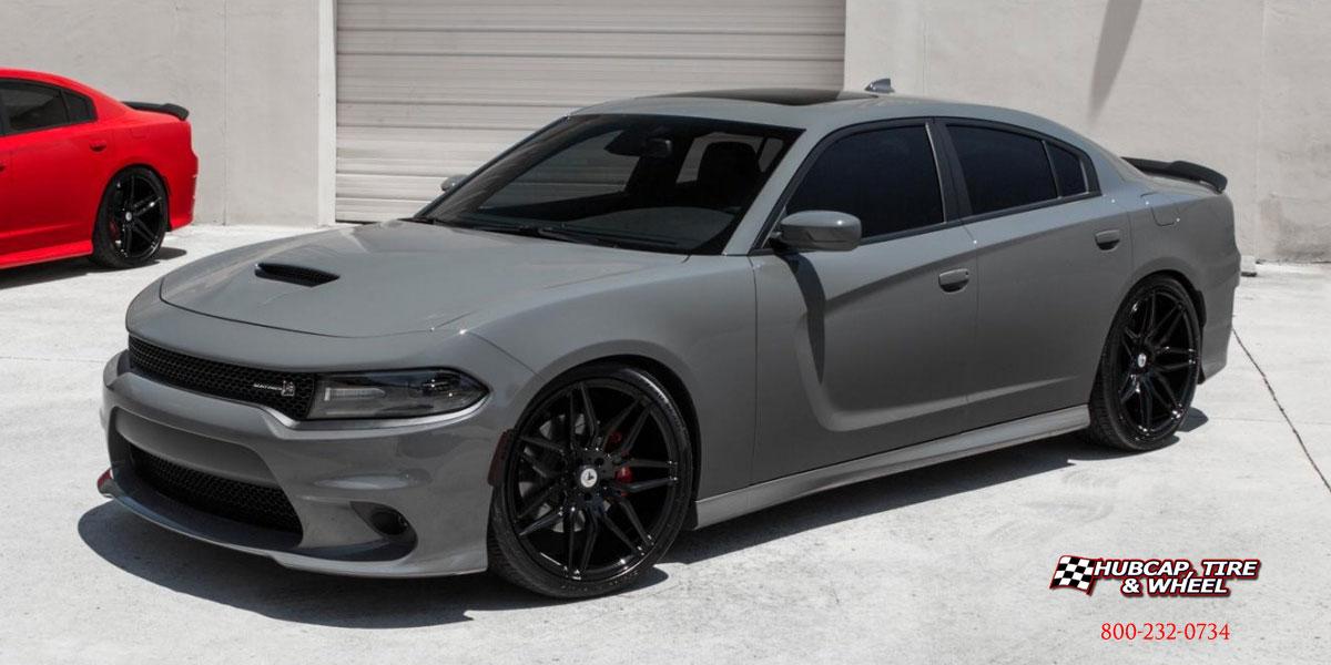 2017 Dodge Charger Asanti Black Label Abl 11 Wheels Gloss Black