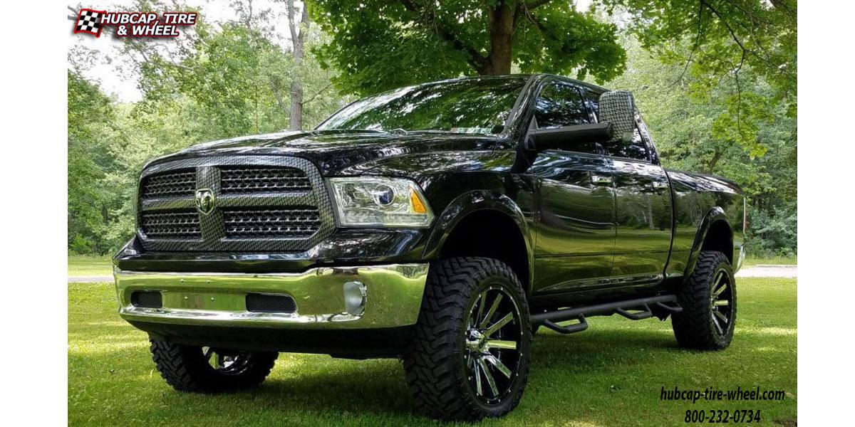 2017 Dodge Ram 1500 Xd Series Xd200 Heist Wheels Chrome W Gloss Black Lip