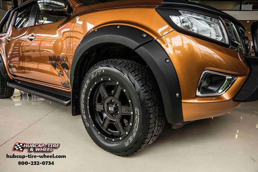 2017 Nissan Frontier XD Series XD832 Fusion Wheels Satin Black