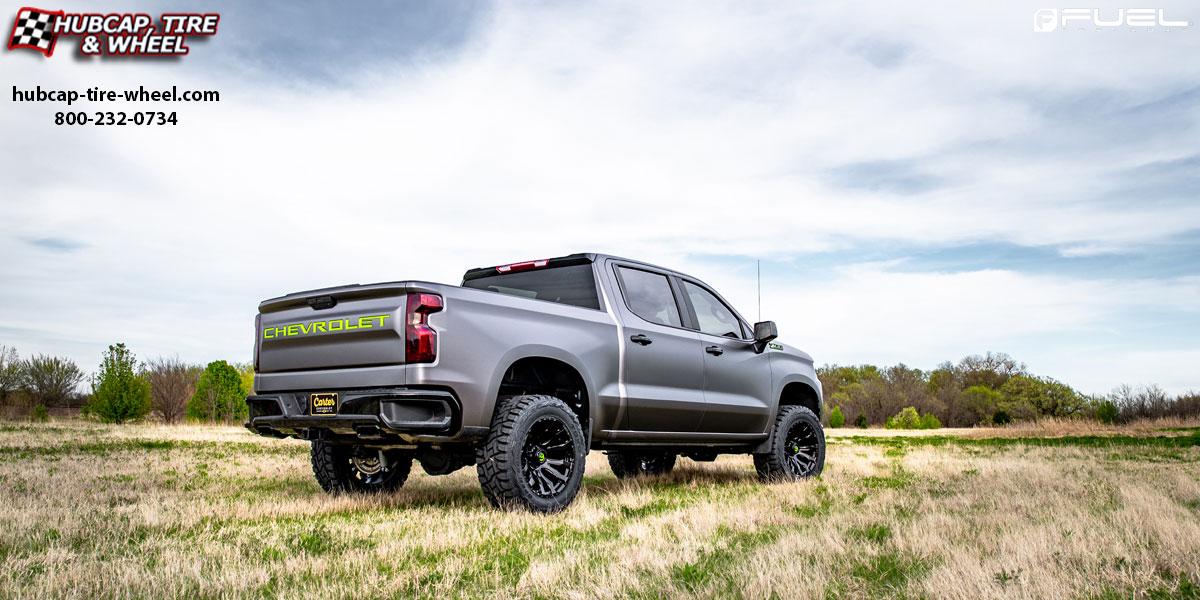 Aftermarket Rims For Chevy Silverado 1500 >> 2018 Chevy Silverado 1500 Fuel D675 Blitz Wheels Gloss Black