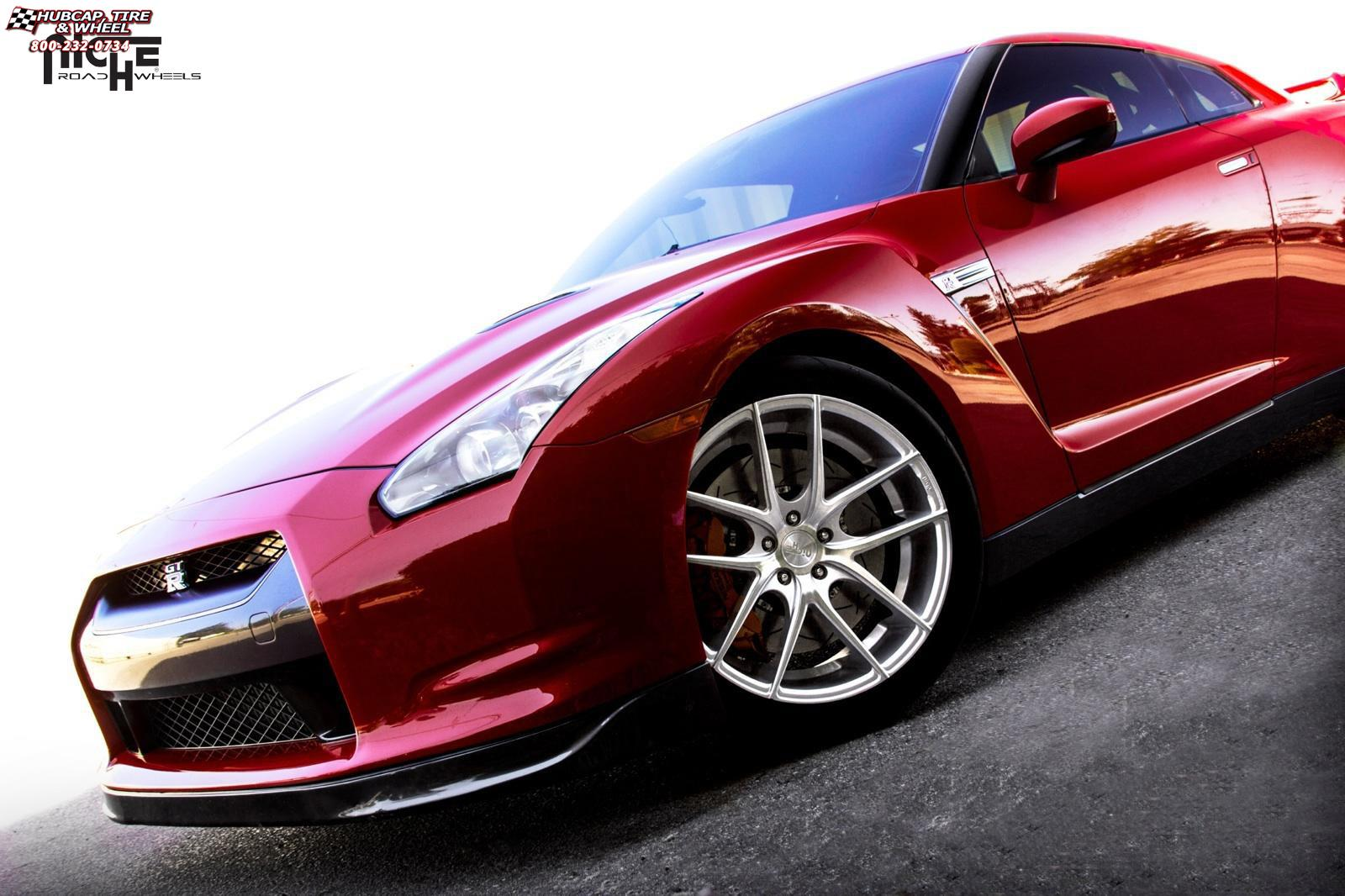 vehicle gallery/nissan gt r niche targa m131  Silver & Machined wheels and rims
