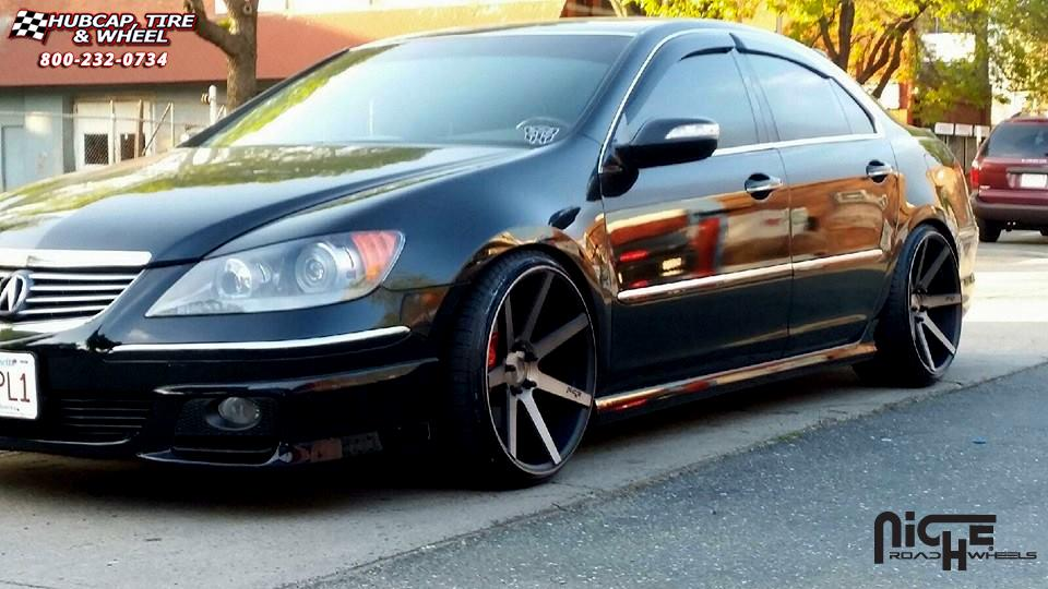 Acura RL Niche Verona M Wheels Black Machined With Dark Tint - Acura rl wheels