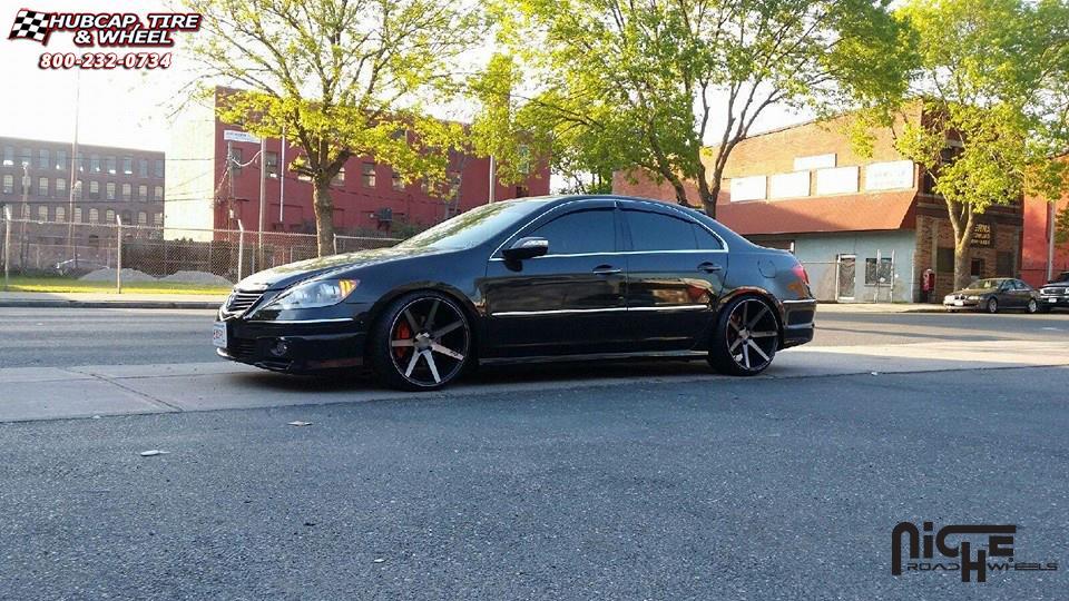 Acura RL Niche Verona M Wheels Black Machined With Dark Tint - Acura rl rims