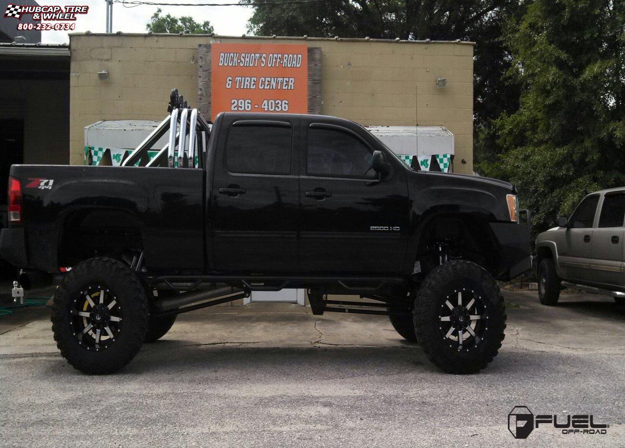 gmc sierra 2500 hd fuel maverick d537 wheels matte black