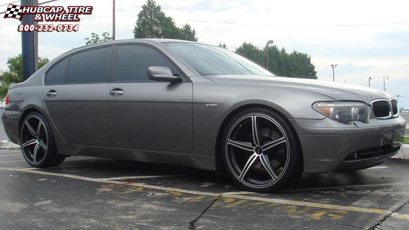BMW I Foose Speed F Wheels Black Machined - 2009 bmw 745