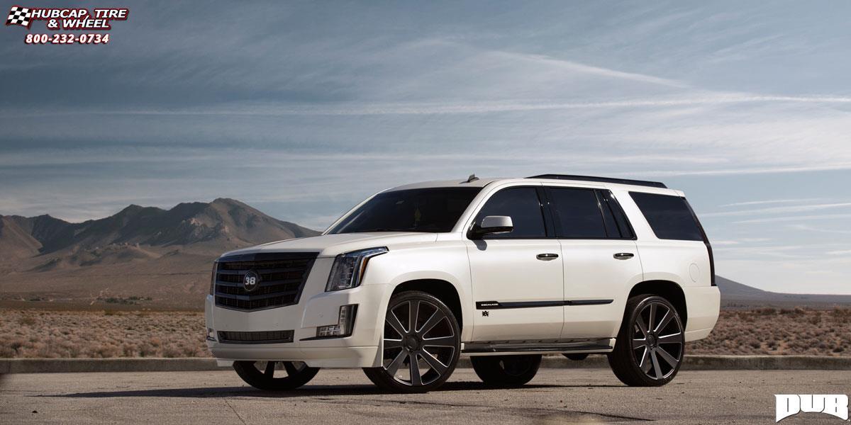 Cadillac Escalade Dub 8-Ball - S187 Wheels Black & Milled