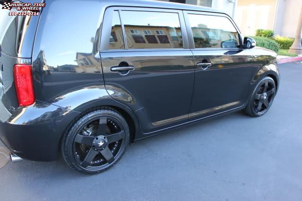 2013 scion xb kmc km775 rockstar car wheels matte black. Black Bedroom Furniture Sets. Home Design Ideas