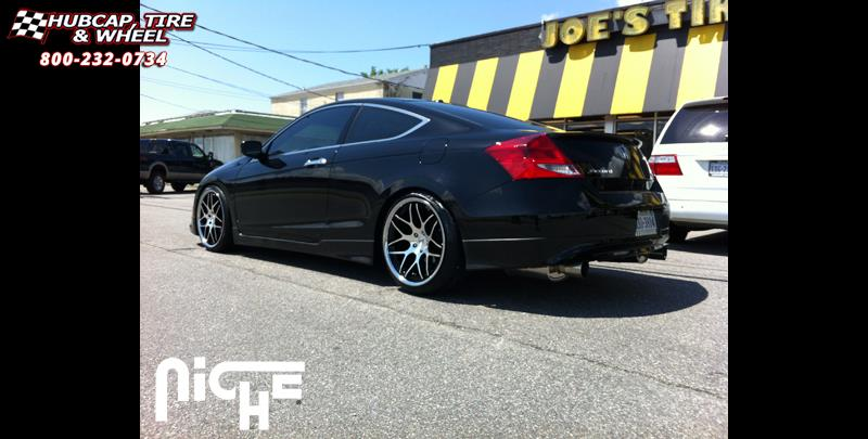 Honda Accord Niche Mugello M883 Wheels Matte Black