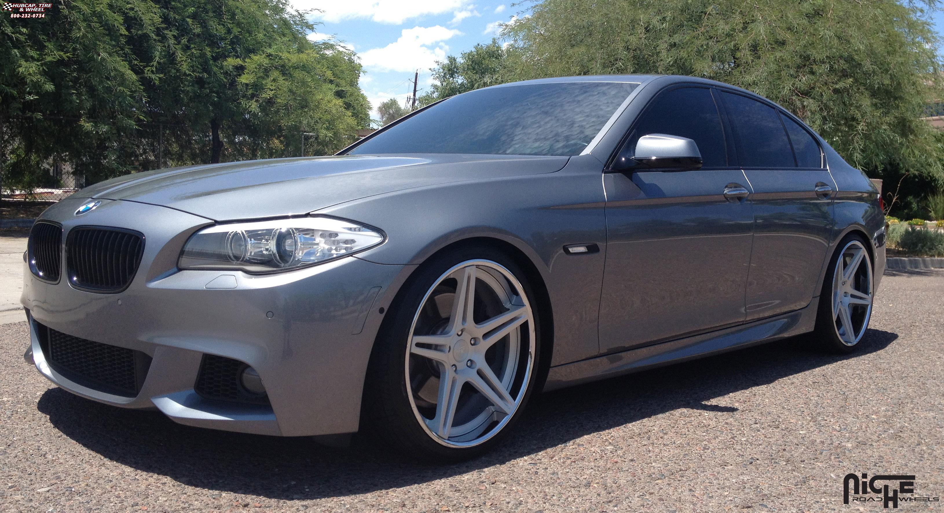 Bmw 550i Niche Sportiva M207 Wheels Brushed Hi Luster