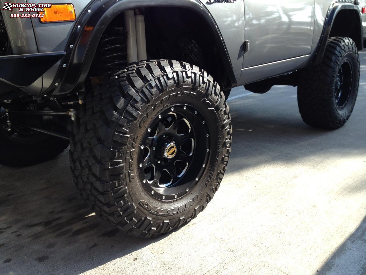 bronco fuel ford d534 boost wheels rims wheel matte tire milled
