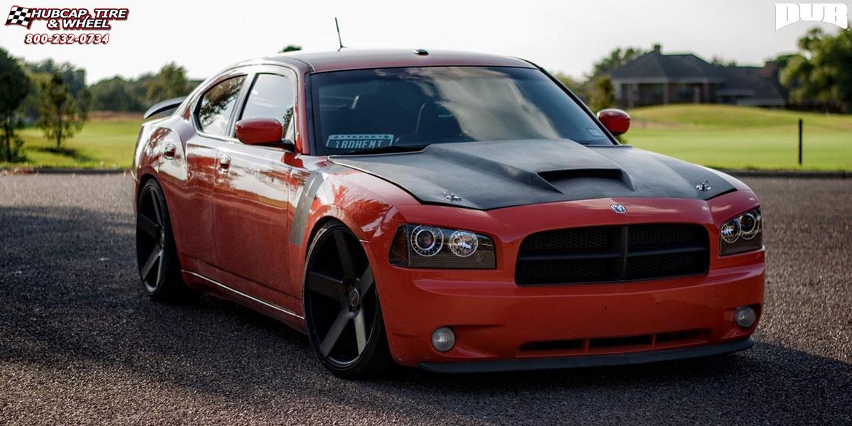 Dodge Charger Dub Baller - S116 Wheels Black & Machined with