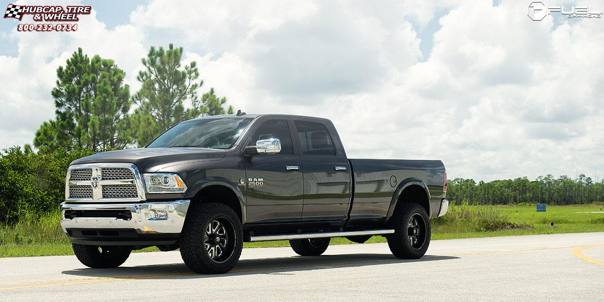 ram 2500 fuel flow d587 20X10  Black & Milled wheels and rims
