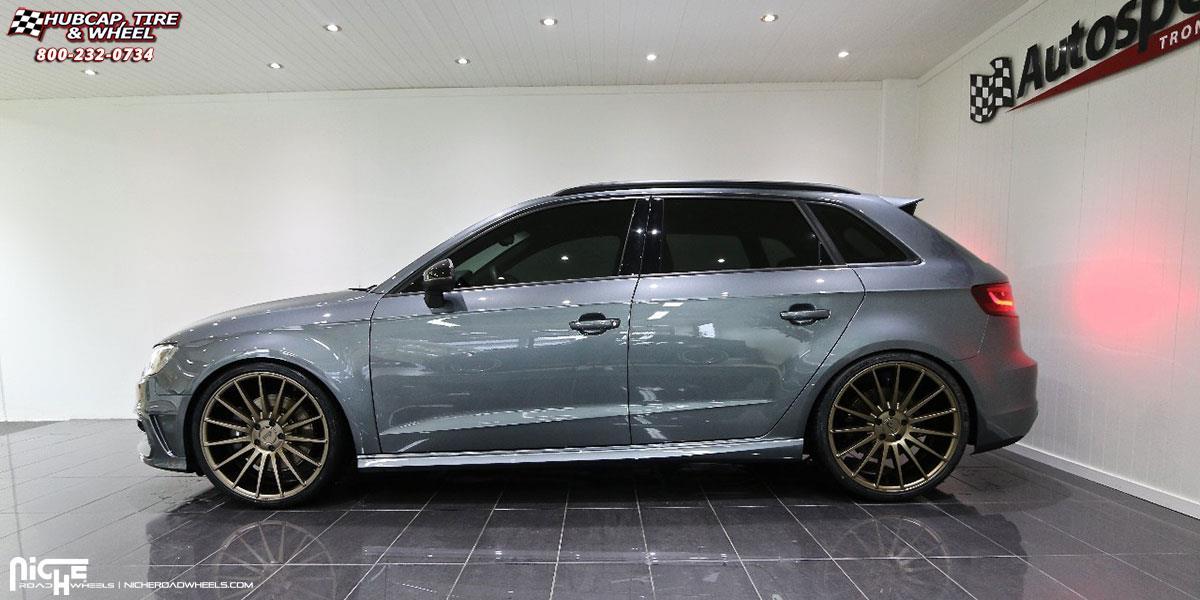 Audi S3 Niche Form - M158 Wheels Bronze
