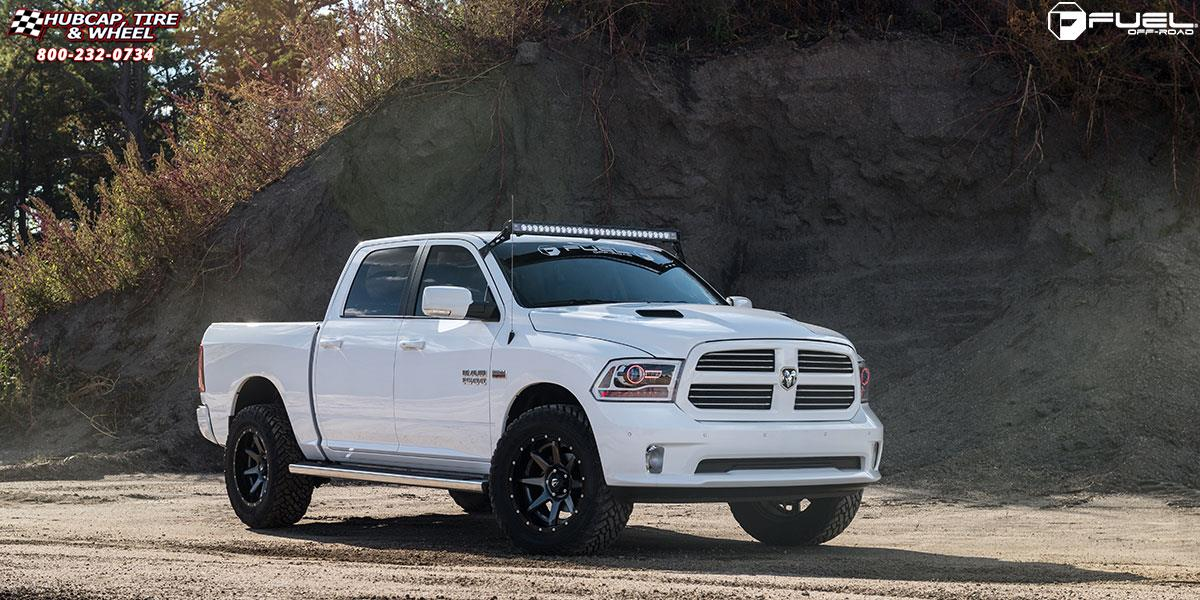 dodge ram 1500 fuel rampage d238 20X10  Anthracite center, gloss black lip wheels and rims
