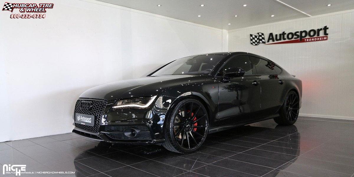 Audi A7 Niche Surge M112 Wheels Gloss Black