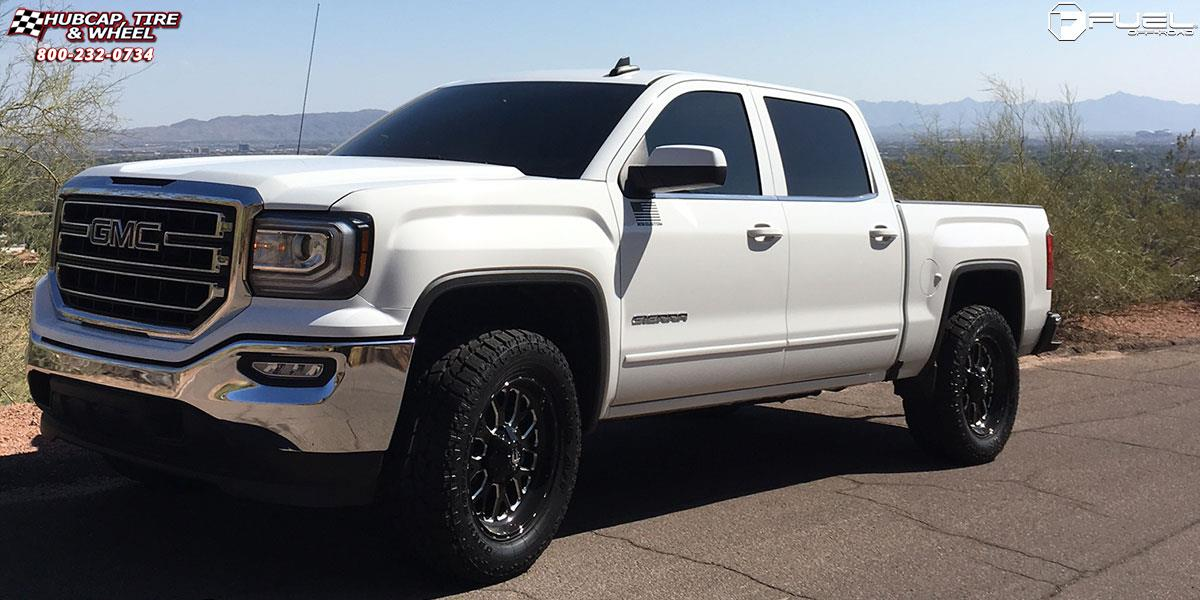 White 2004 Duramax >> GMC Sierra 1500 Fuel Titan D588 Wheels Black & Milled