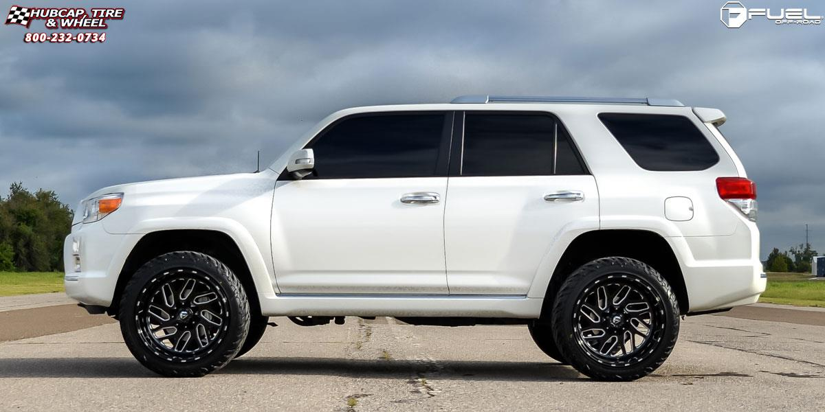 toyota 4 runner fuel triton d581 22X12  Black & Milled wheels and rims