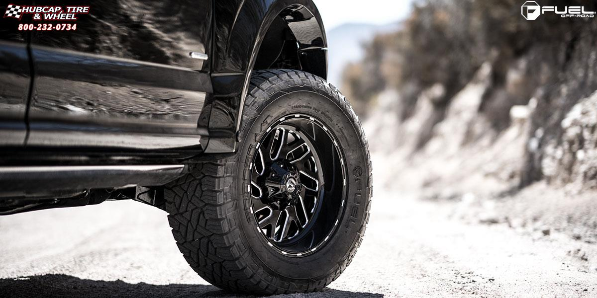 ford f 150 fuel triton d581 20X10  Black & Milled wheels and rims