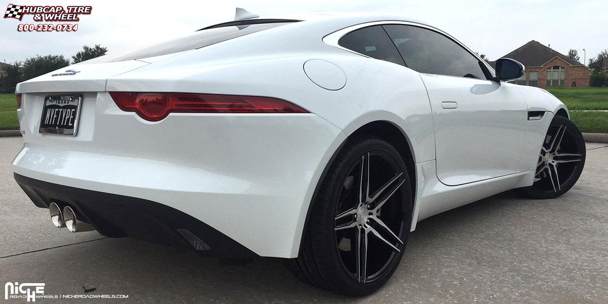 Jaguar F Type Niche Turin M169 Wheels Gloss Black Brushed