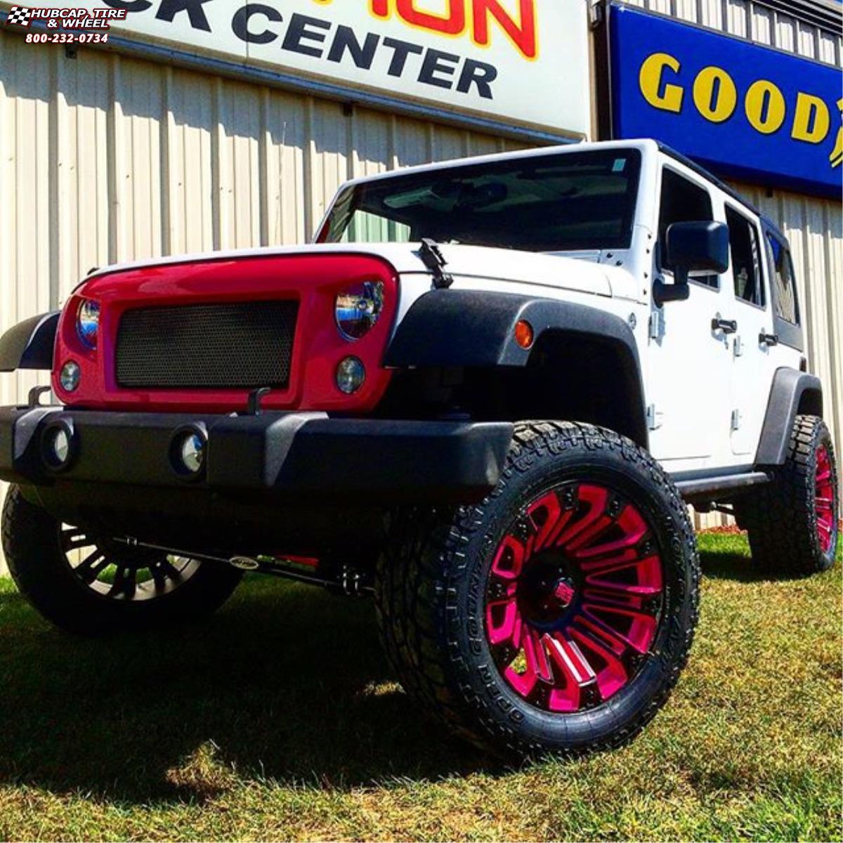 Jeep Wrangler Xd Series Xd810 Brigade Wheels Black Pink