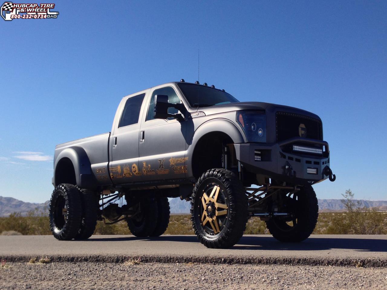 Ford Dually Rims >> Ford F-350 Dually Fuel Full Blown Dually Rear D254 Wheels Custom