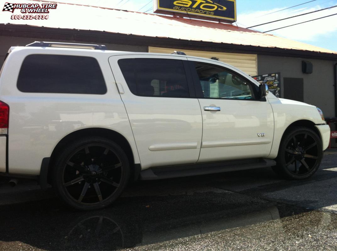 Nissan Armada Kmc Km651 Slide Wheels Gloss Black