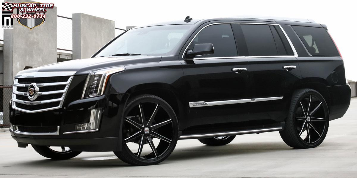 Cadillac Escalade Dub Push - S109 Wheels Gloss Black & Milled