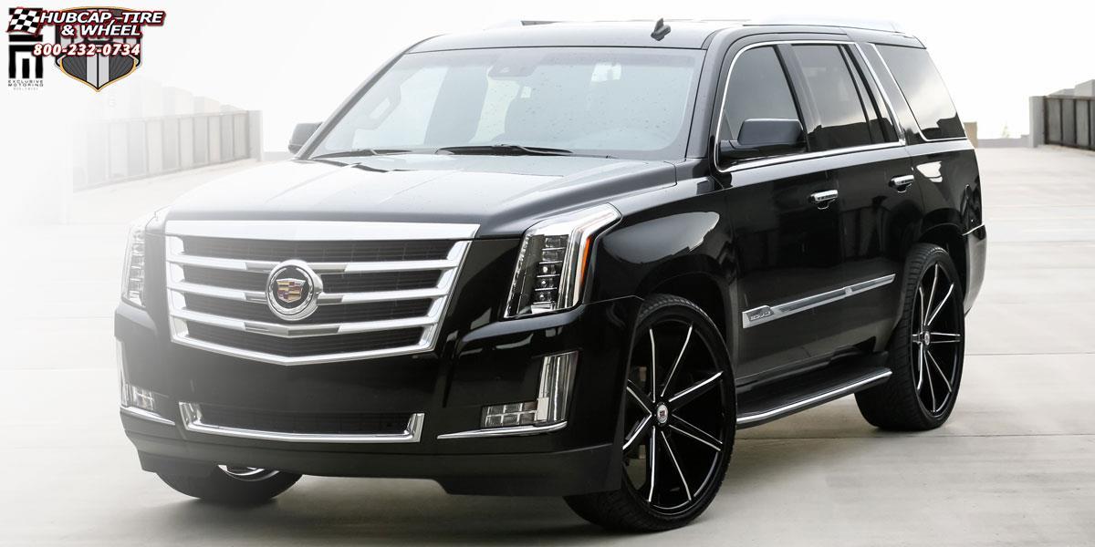 Cadillac Escalade Dub Push S109 Wheels Gloss Black Amp Milled