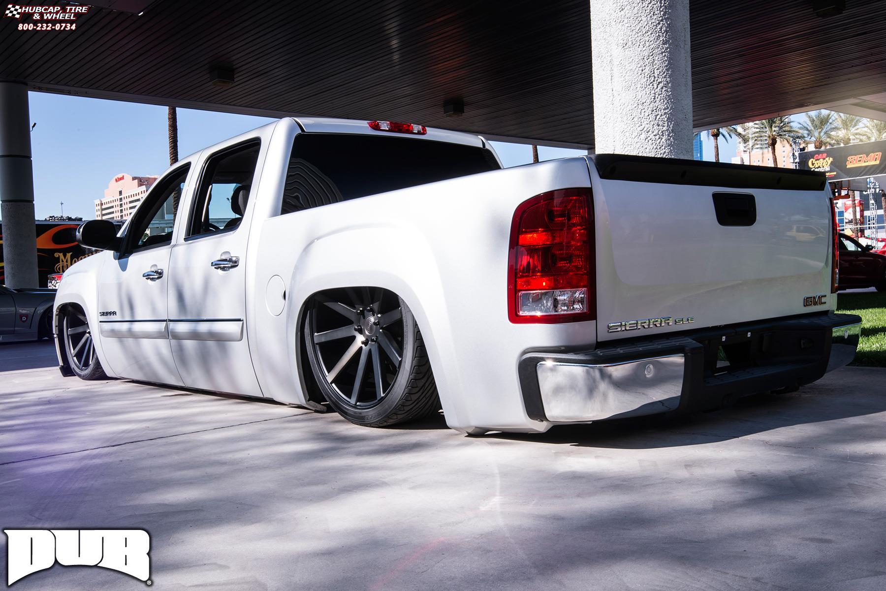 Gmc Sierra 1500 Dub Shot Calla S121 Wheels Black