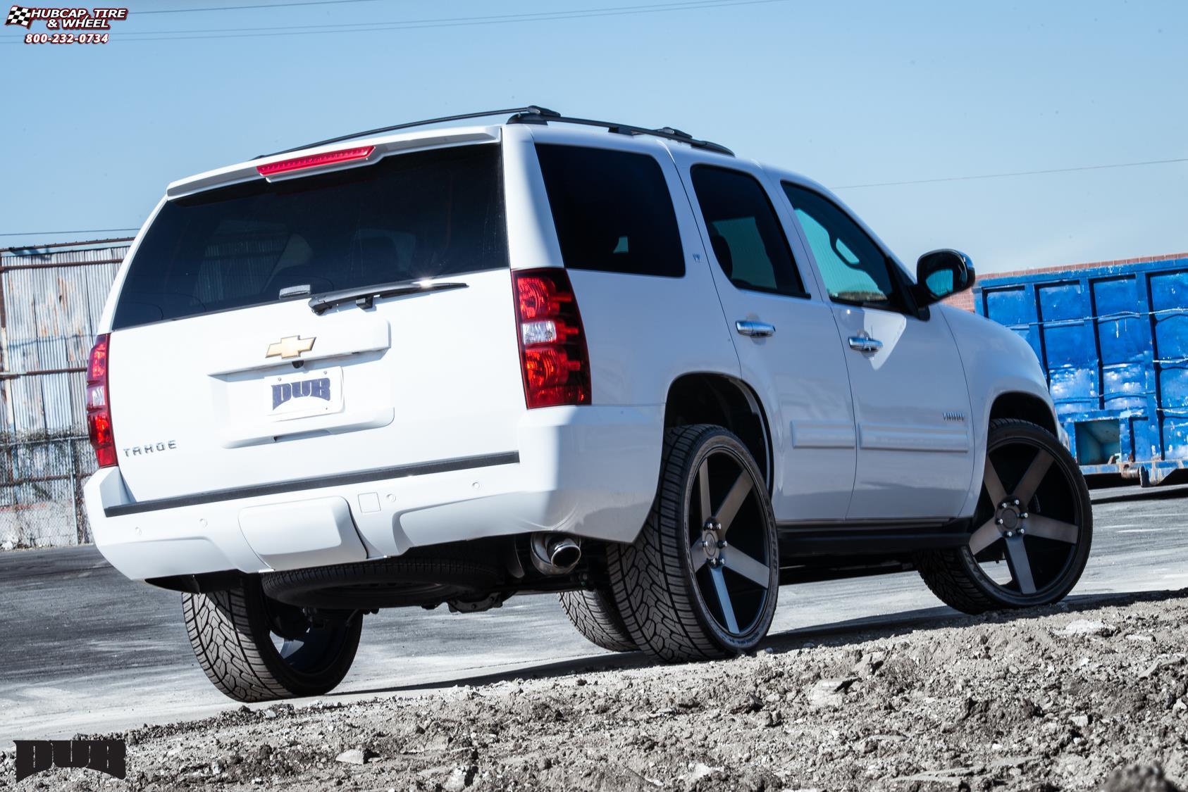 Chevrolet Tahoe Dub Baller - S116 Wheels Black & Machined ...