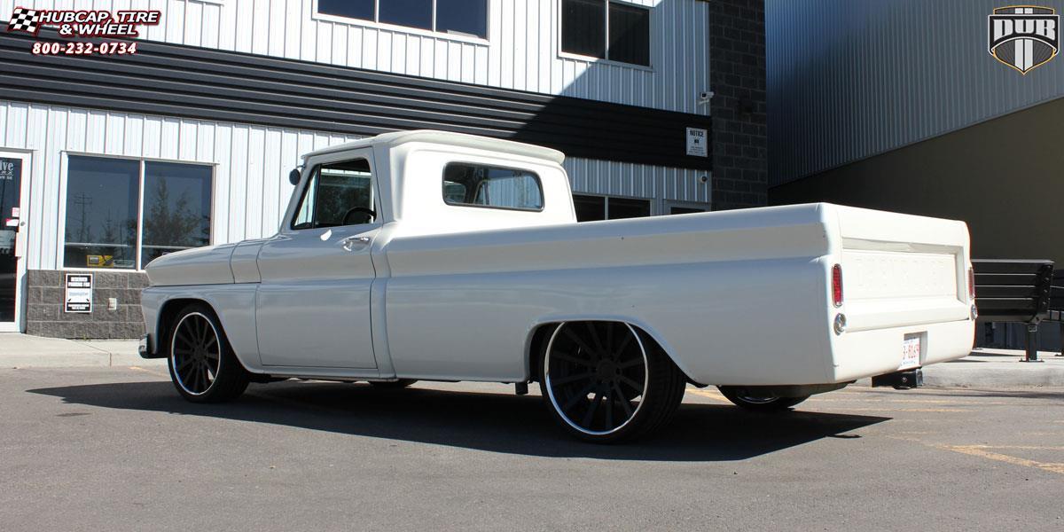 Chevrolet C-10 Dub X-39 Wheels Matte Black   Polished Lip