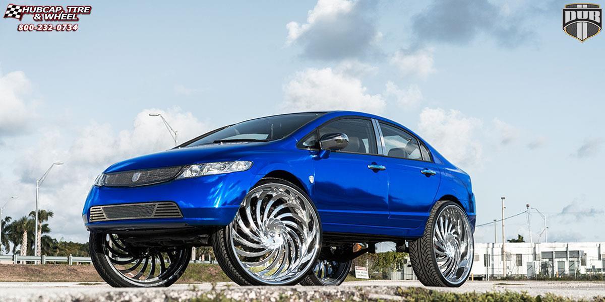 Honda civic dub xa30 delish wheels chrome for 1999 honda accord tire size