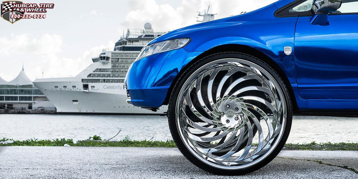 Honda Civic Dub Xa30 Delish Wheels Chrome