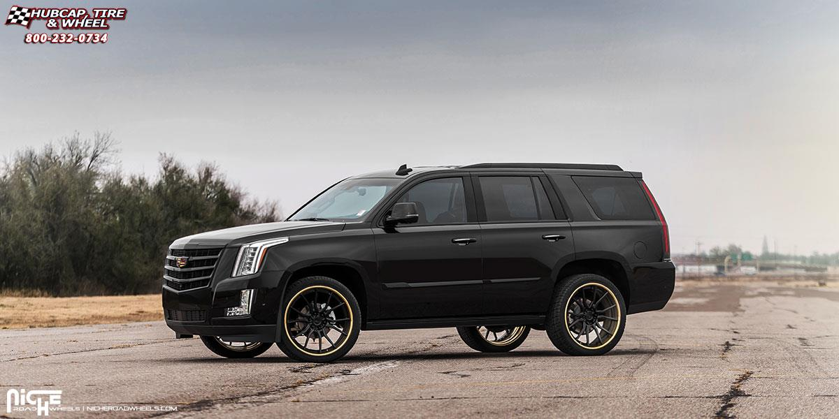 Cadillac Escalade Niche Ascari H88 Wheels Gloss Black W