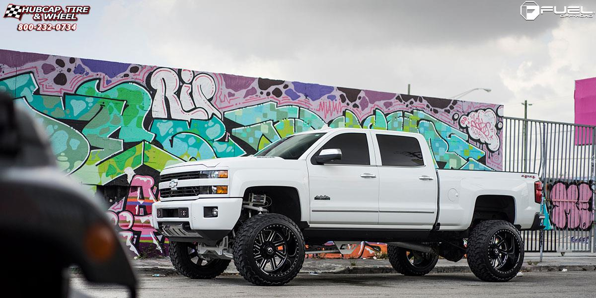 chevrolet silverado 2500 hd fuel forged ff07 24X12  Polished or Custom Painted wheels and rims