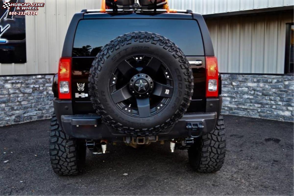 Hummer H3 Xd Series Xd775 Rockstar Wheels Matte Black