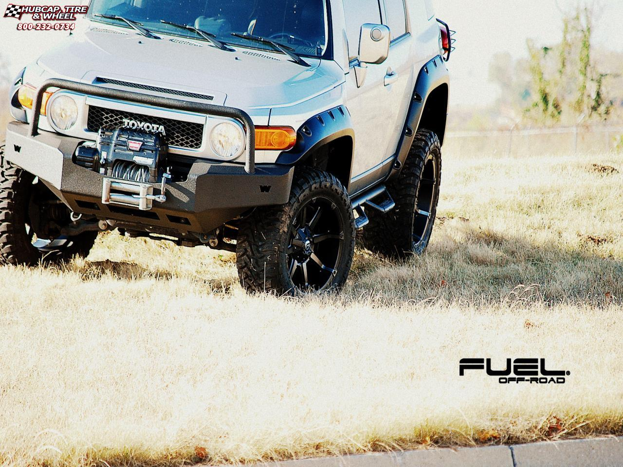 vehicle gallery/toyota fj cruiser fuel coupler d556 20X10  Black & Machined with Dark Tint wheels and rims