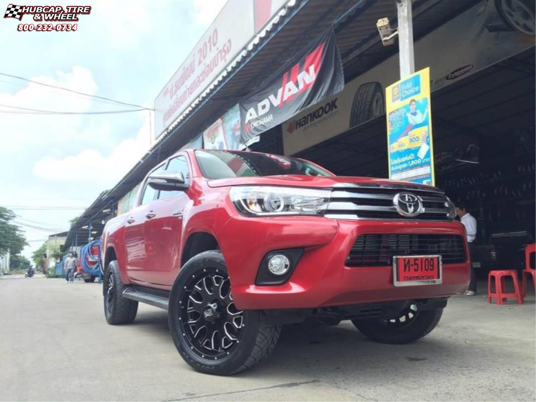 Toyota Hilux Xd Series Xd808 Menace X Gloss Black Milled Wheels And Rims