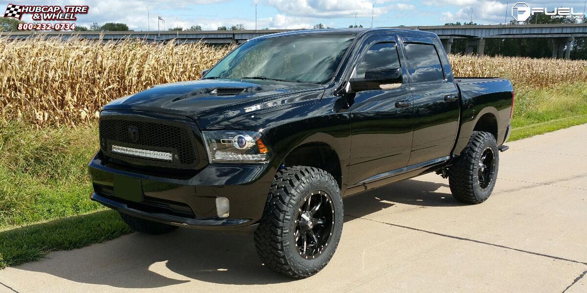 Dodge Ram 1500 Fuel Nutz D251 Wheels Matte Black Amp Milled