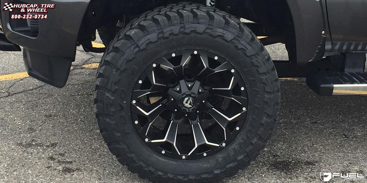 Ford F-250 Super Duty Fuel Assault D546 Wheels Black & Milled