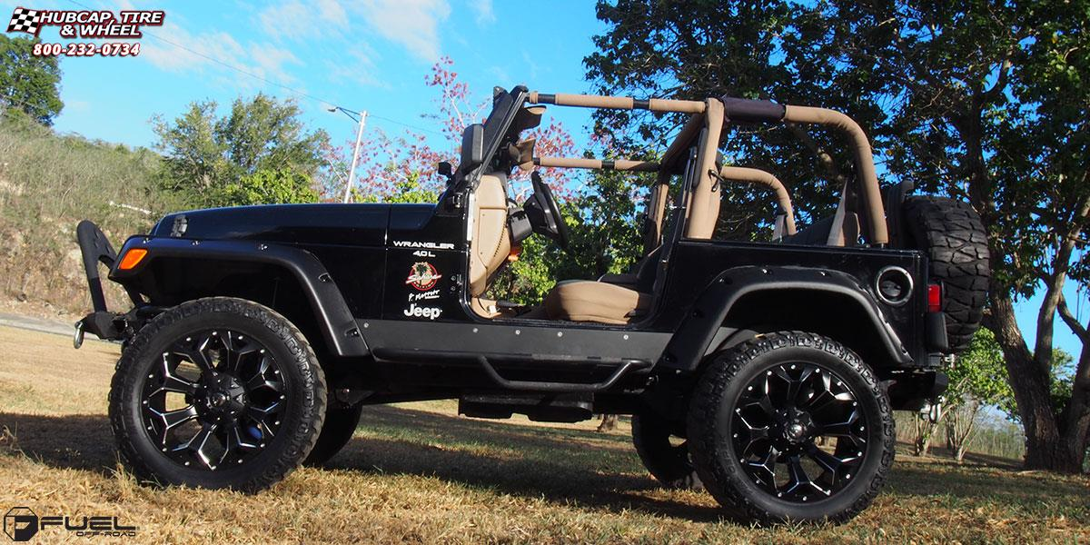 2019 Jeep Wrangler Colors >> Jeep Wrangler Fuel Assault D546 Wheels Black & Milled