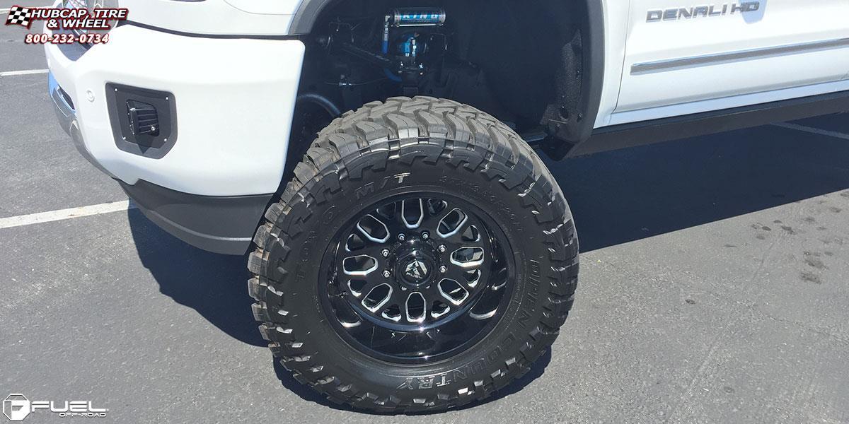 Gmc Sierra 3500 Hd Fuel Forged Ff19 Wheels Black Amp Milled