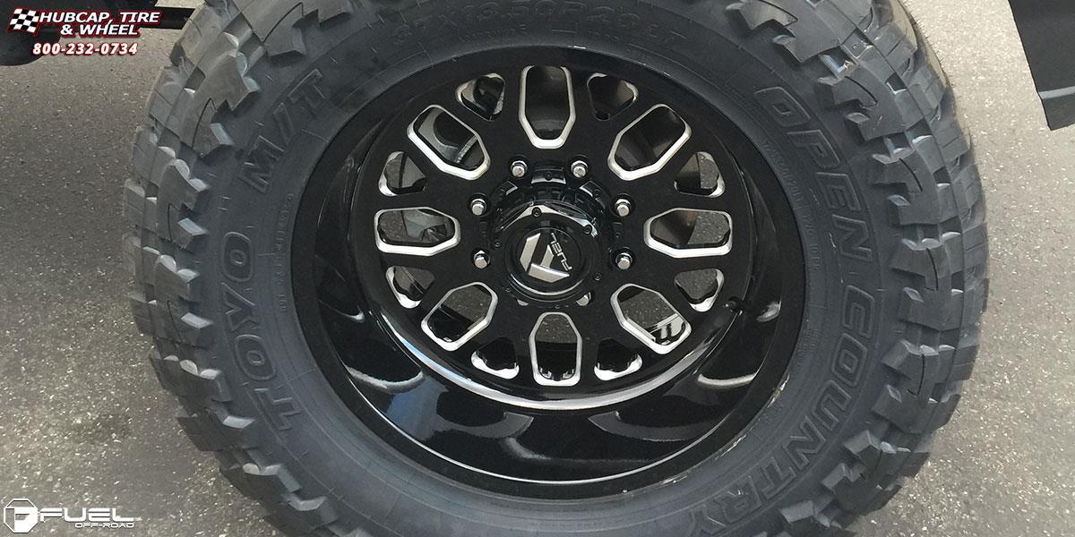 GMC Sierra 3500 HD Fuel Forged FF19 Wheels Black & Milled