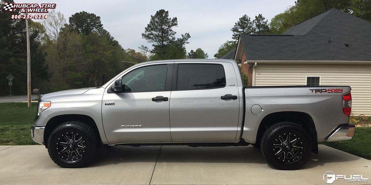 Toyota Tundra Fuel Maverick D538 Wheels Black & Milled