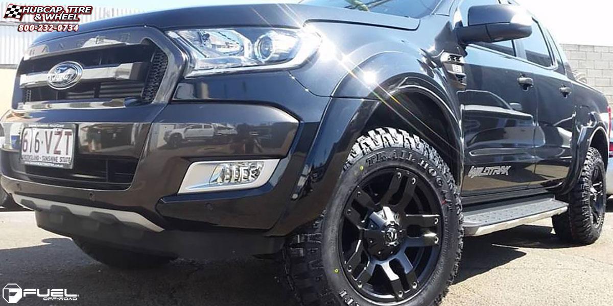 ford ranger fuel pump  wheels matte black