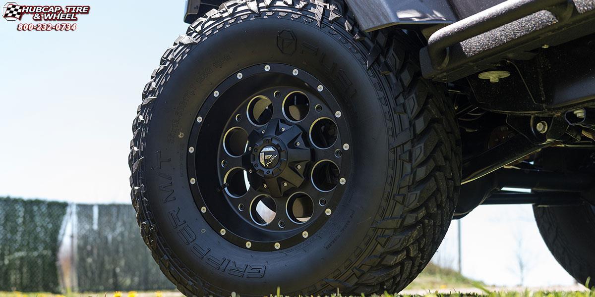 Jeep Wrangler Fuel Revolver D525 Wheels Matte Black & Milled
